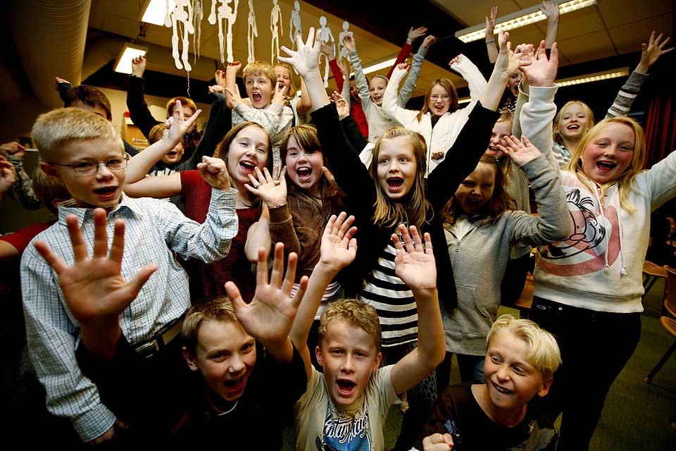BEST I LANDET: 5.-klassingene ved Fjellfoten skole i Akershus er best sammenlagt i lesning, regning og engelsk, viser resultatene fra de nasjonale prøvene.