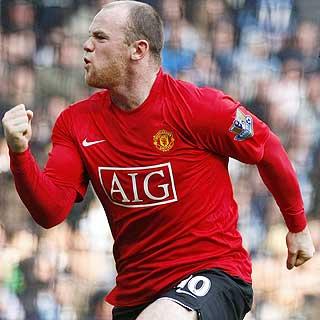 MATCHVINNER: Wayne Rooney avgjorde kampen med en scoring rett før pause.