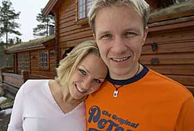 Petter Solberg with cool, Wife Pernilla Walfridsson